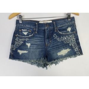Abercrombie & Fitch Cut Off Jean Shorts Size 2 W26